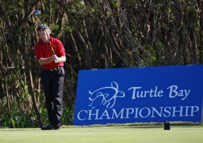 Jerry Pate tees off on #14 during the final round of the 2008 Turtle Bay Championship held on January 27, 2008 on the Palmer Course at Turtle Bay Resort in Kahuku, Oahu, Hawaii. Champions Tour - 2008 Turtle Bay Championship - Final RoundPhoto by Chris Condon/PGA TOUR/Getty Images