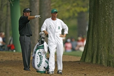 2ae131f6f0e Phil Mickelson during the first round of the 2006 Masters at the Augusta  National Golf Club