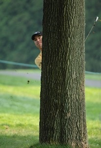 Arron Oberholser during the second round of the World Golf Championship, Bridgestone Invitational August 3, 2007 in Akron, Ohio. PGA TOUR - WGC - 2007 Bridgestone Invitational - Second RoundPhoto by Marc Feldman/WireImage.com