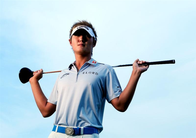 AKRON, OH - AUGUST 05:  Danny Lee of New Zealnd poses for a portrait prior to the WGC-Bridgestone Invitational on the South Course at Firestone Country Club on August 5, 2009 in Akron, Ohio.  (Photo by Sam Greenwood/Getty Images)