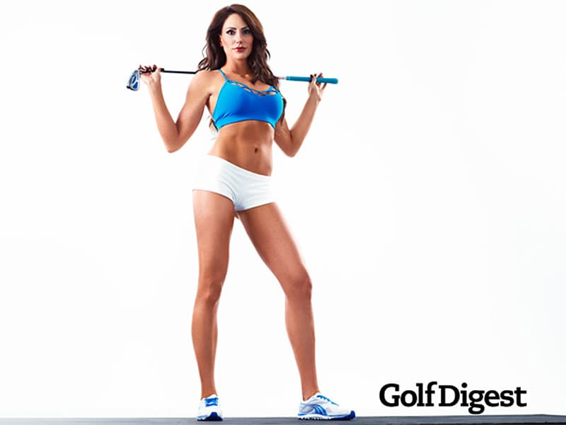 Holly Sonders on cover of Golf Digest