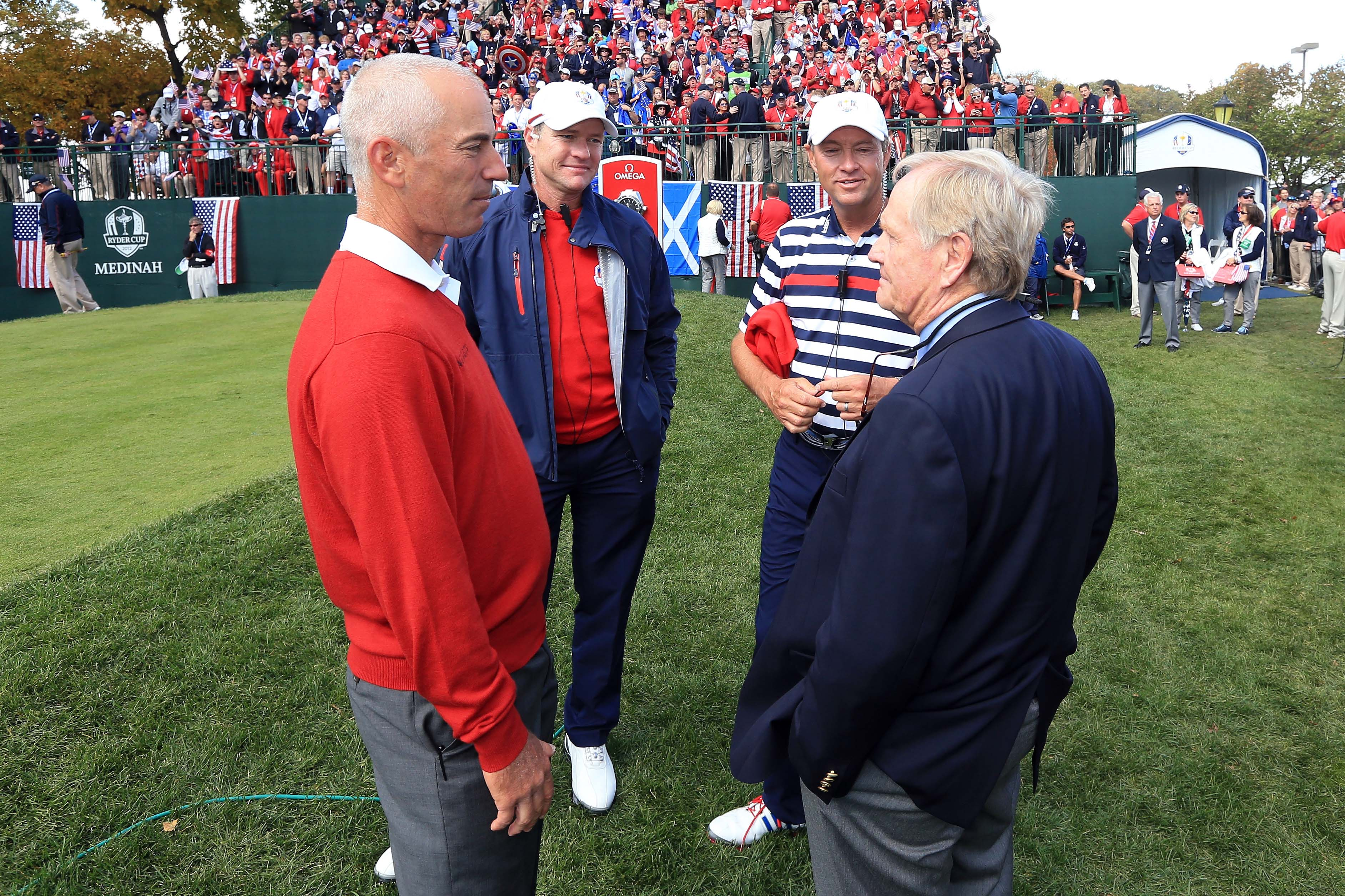 Corey Pavin, Scott Verplank, Davis Love III and Jack Nicklaus