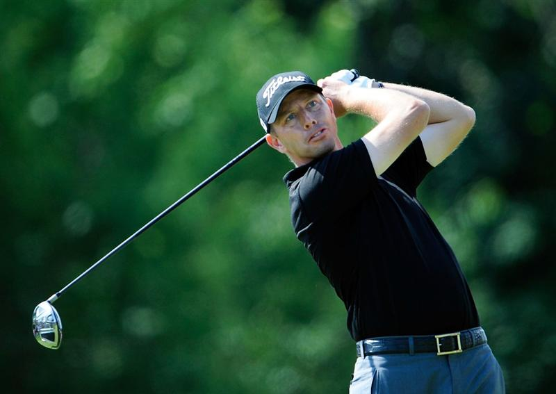 AKRON, OH - AUGUST 07:  Soren Hansen of Denmark plays a shot on the 8th hole during the second round of the WGC-Bridgestone Invitational on the South Course at Firestone Country Club on August 7, 2009 in Akron, Ohio.  (Photo by Sam Greenwood/Getty Images)