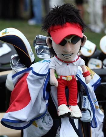 SAN FRANCISCO - OCTOBER 10:  Ryo Ishikawa of Japan and The International Team club headcover during the Day Three Afternoon Fourball Matches in The Presidents Cup at Harding Park Golf Course on October 10, 2009 in San Francisco, California  (Photo by David Cannon/Getty Images)