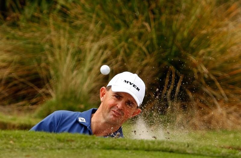 MELBOURNE, AUSTRALIA - NOVEMBER 29:  Greg Chalmers of Australia hits a shot on the fourth hole during the third round of the 2008 Australian Masters at Huntingdale Golf Club on November 29, 2008 in Melbourne, Australia  (Photo by Lucas Dawson/Getty Images)