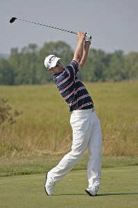 Brendan Jones competes in the first round of the B.C. Open held on the Atunyote course at Turning Stone Resort in Vernon, New York, on July 20, 2006.