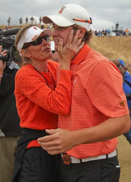 Peter Uihlein and his mother, Tina