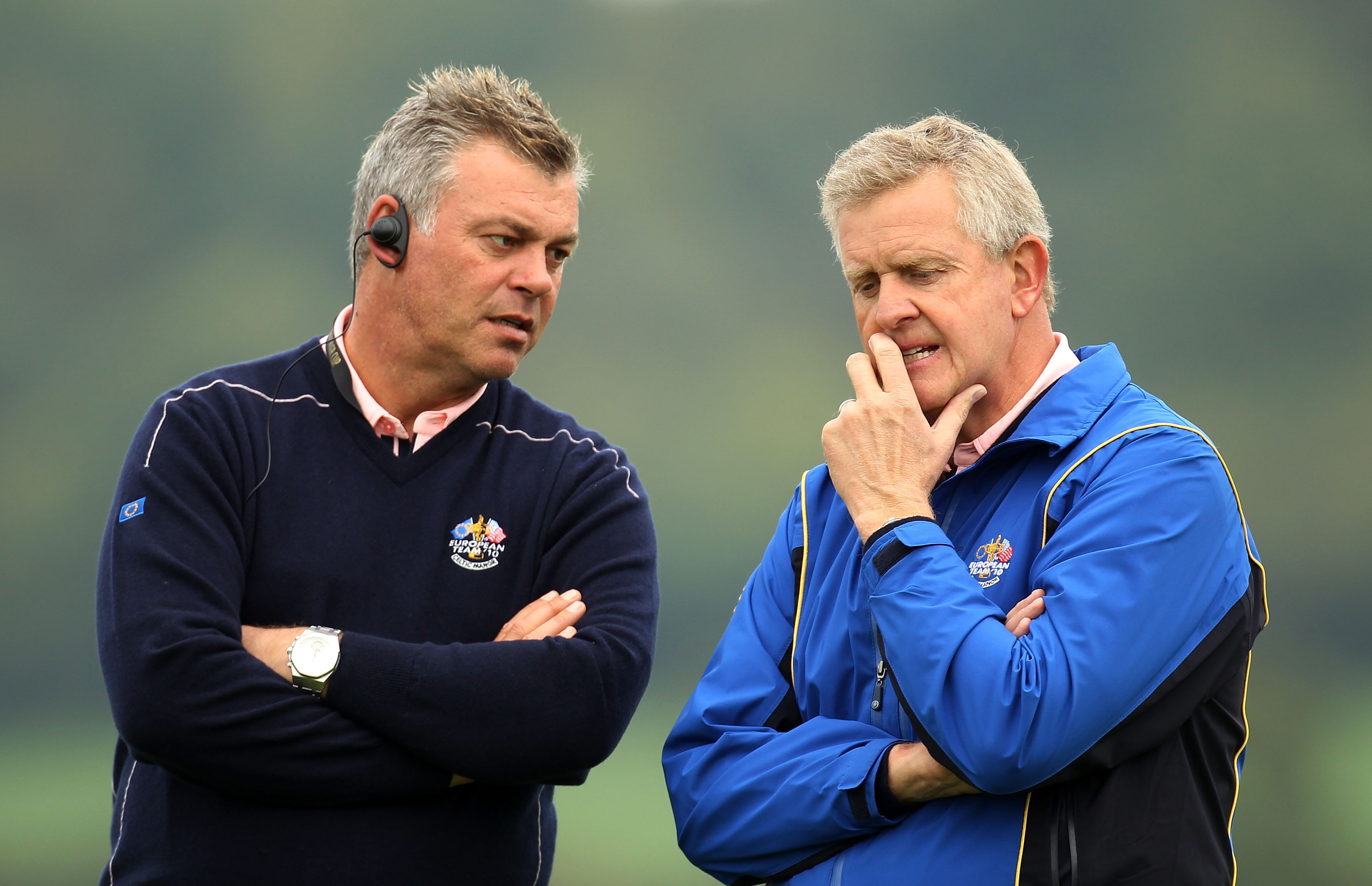 Darren Clarke with Colin Montgomerie at the 2010 Ryder Cup