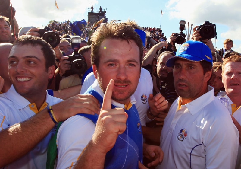 Graeme McDowell at the 2010 Ryder Cup