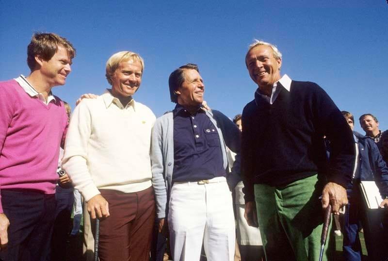 Tom Watson, Jack Nicklaus, Gary Player, Arnold Palmer, 1983
