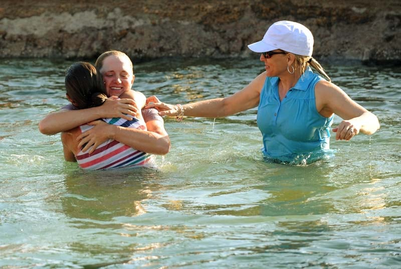 Stacy Lewis and her mother, Carol