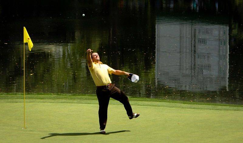 Graeme McDowell at the 2010 Masters Par-3 Contest