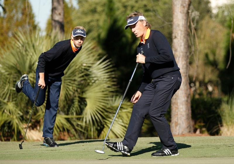 Jason and Bernhard Langer