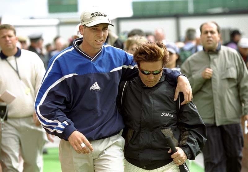 Sergio Garcia and his mother, Consuelo