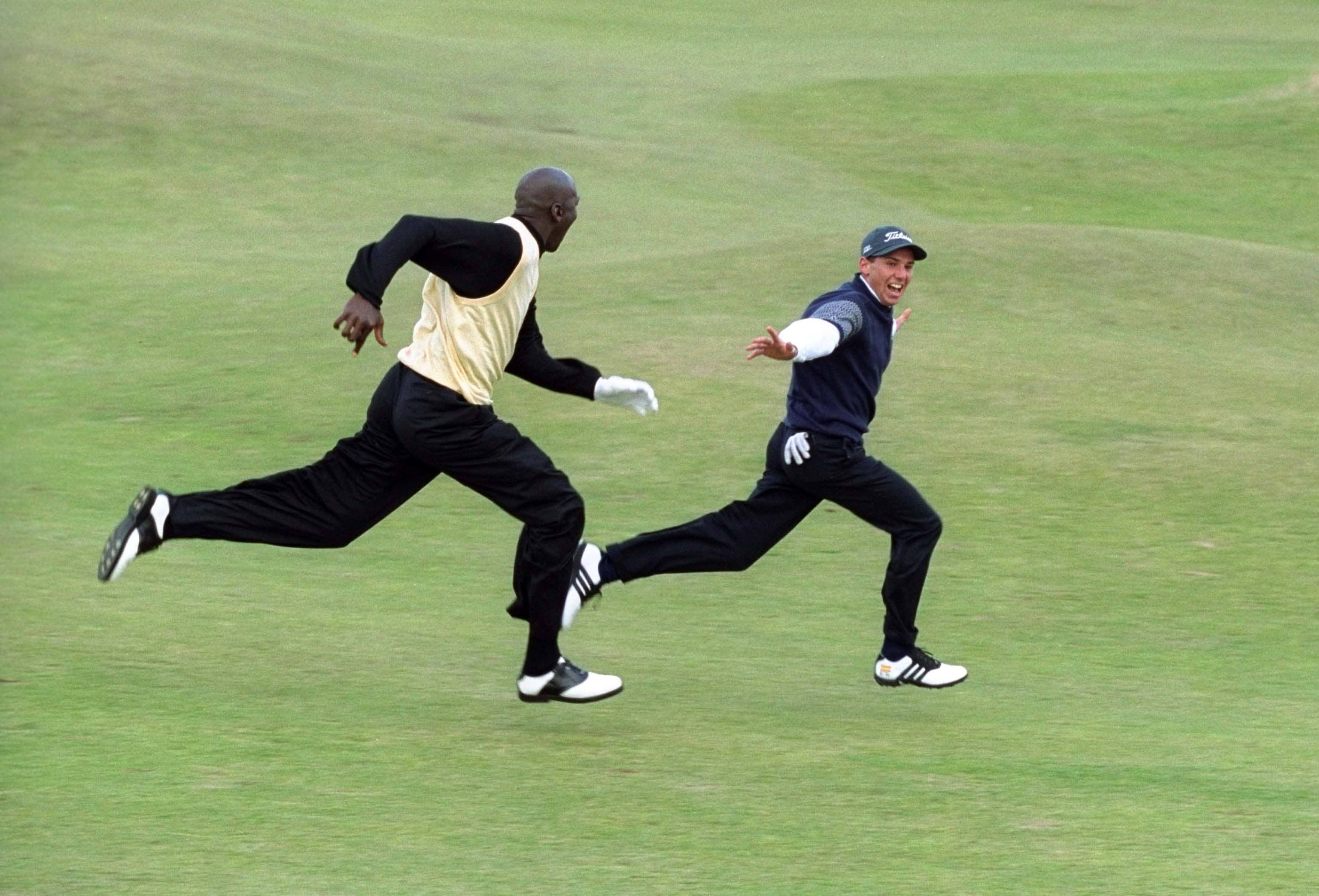 Michael Jordan and Sergio Garcia