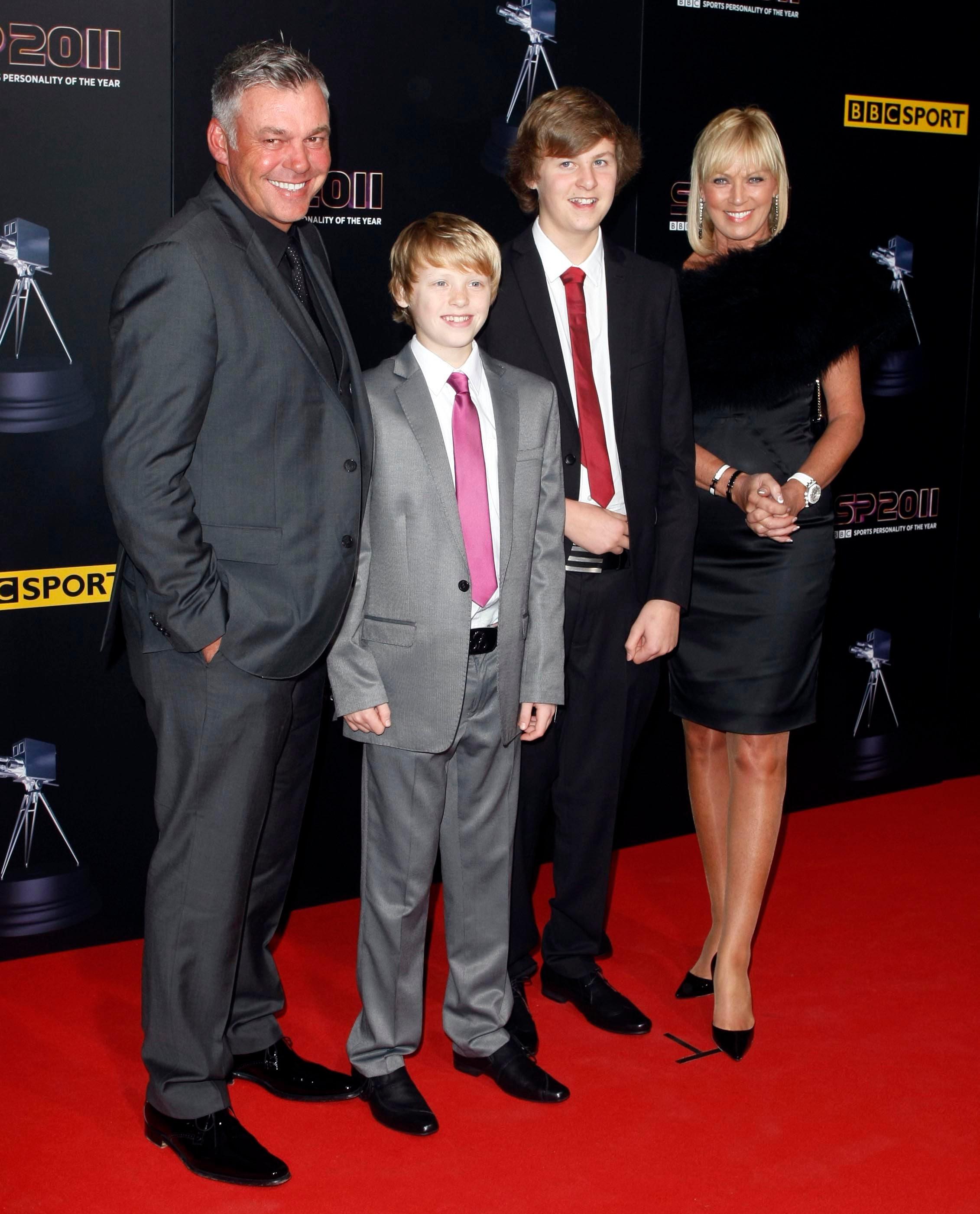 Darren Clarke with sons in 2011