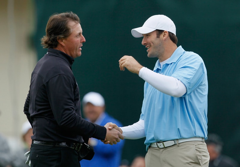 Phil Mickelson and Tony Romo