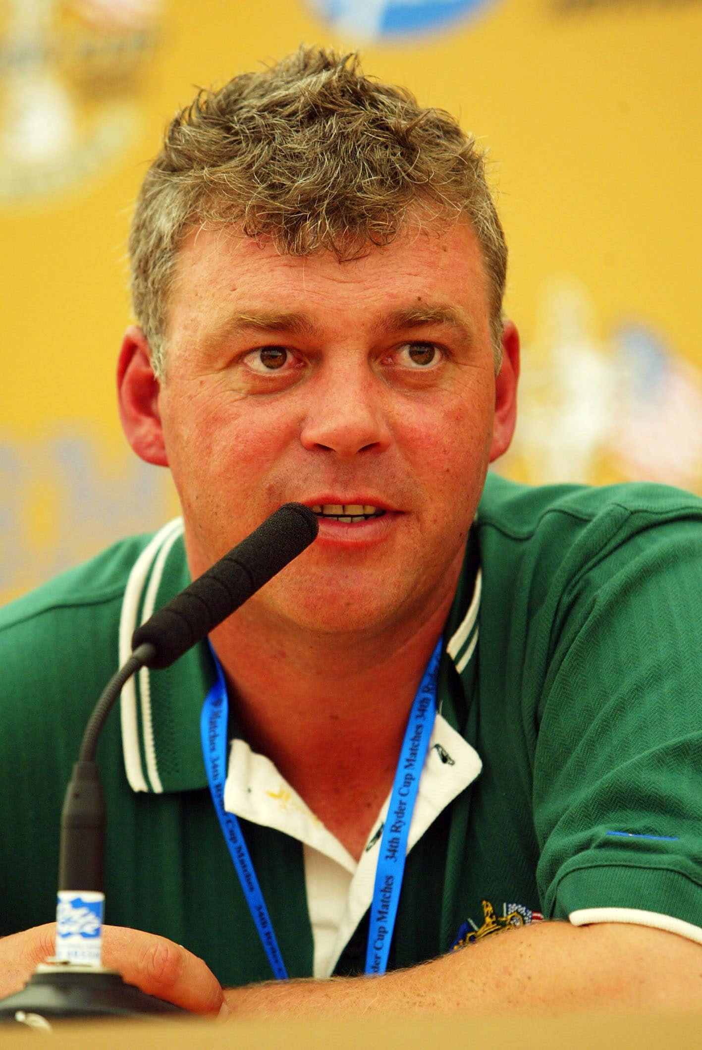 Darren Clarke at the 2002 Ryder Cup