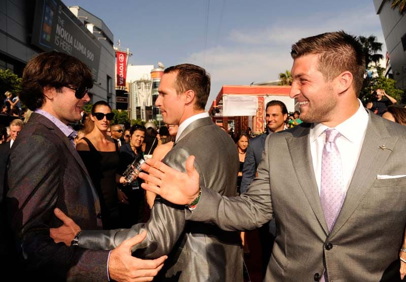 Bubba Watson, Drew Brees and Tim Tebow