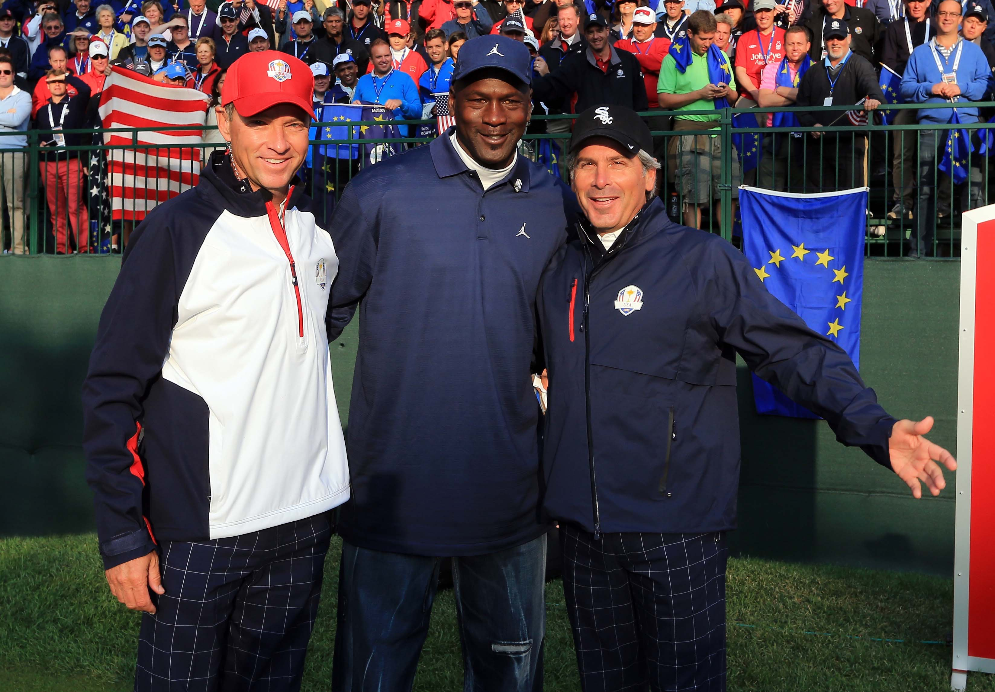 Michael Jordan, Davis Love III and Fred Couples