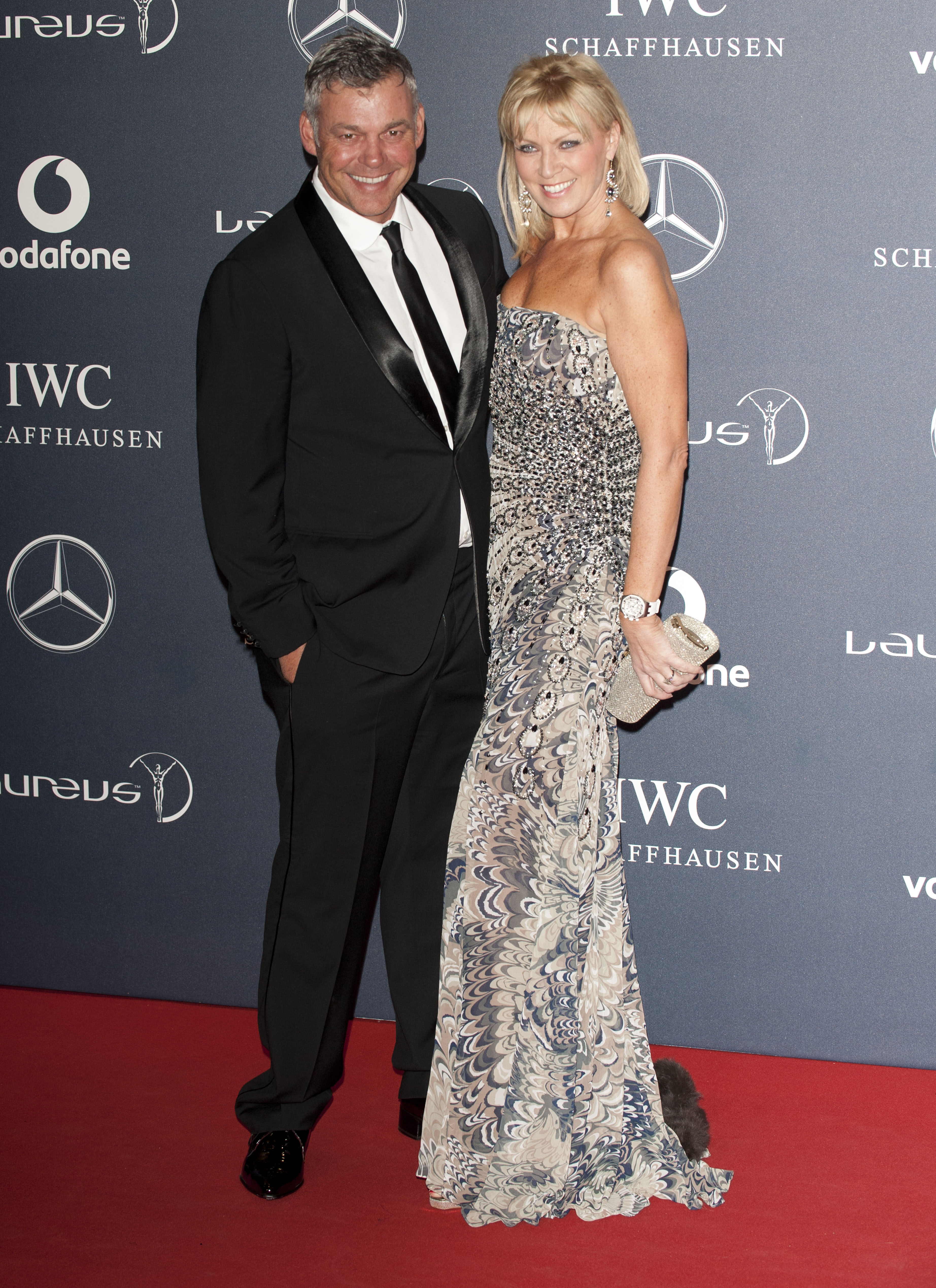 Darren Clarke with then-fiancee Alison Campbell in 2012