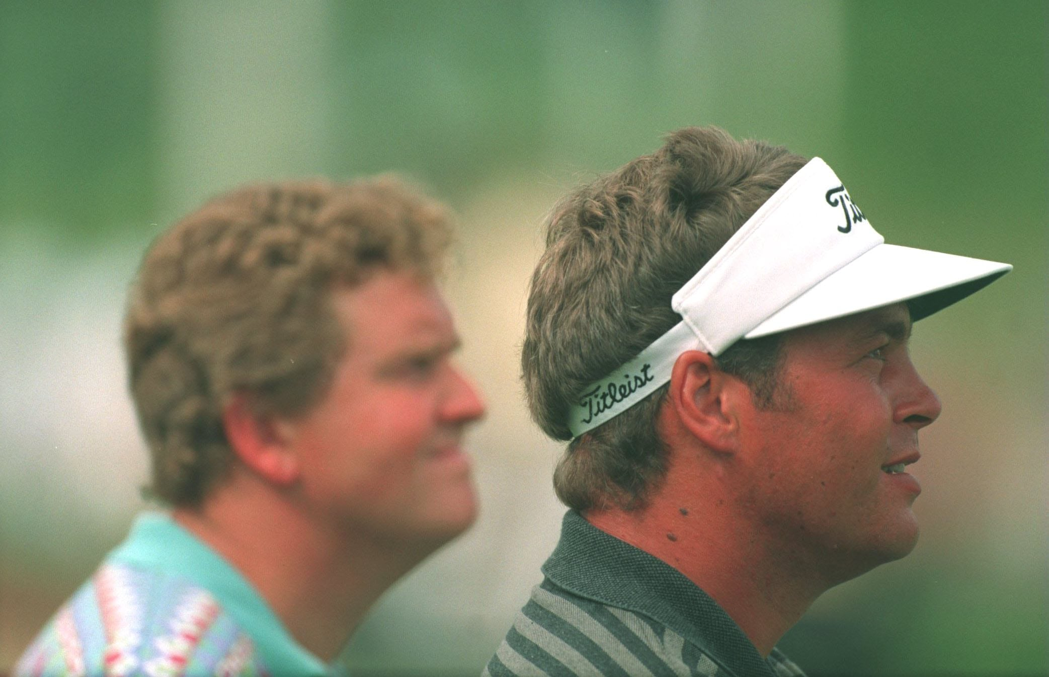 Darren Clarke with Colin Montgomerie in 1995