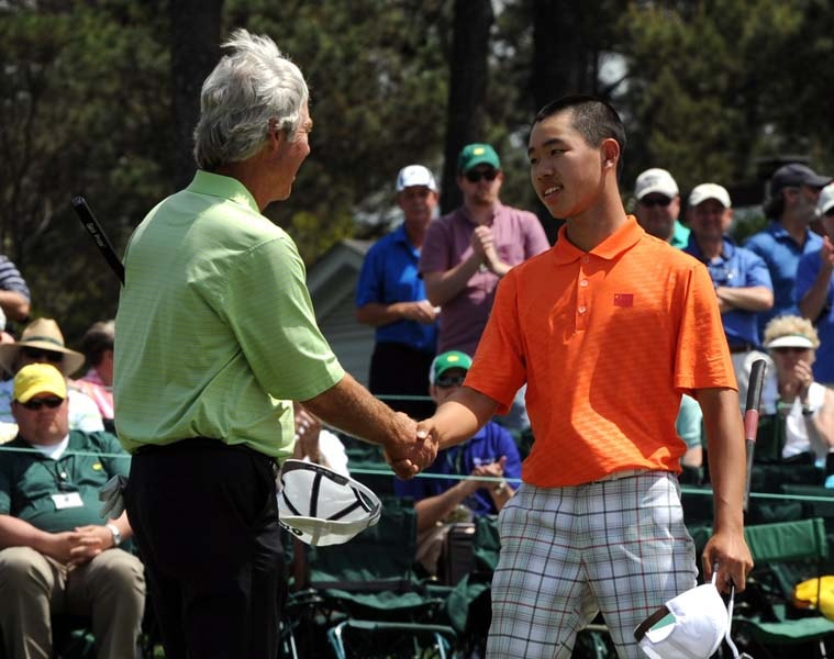 8. Guan's slow-play penalty at Augusta