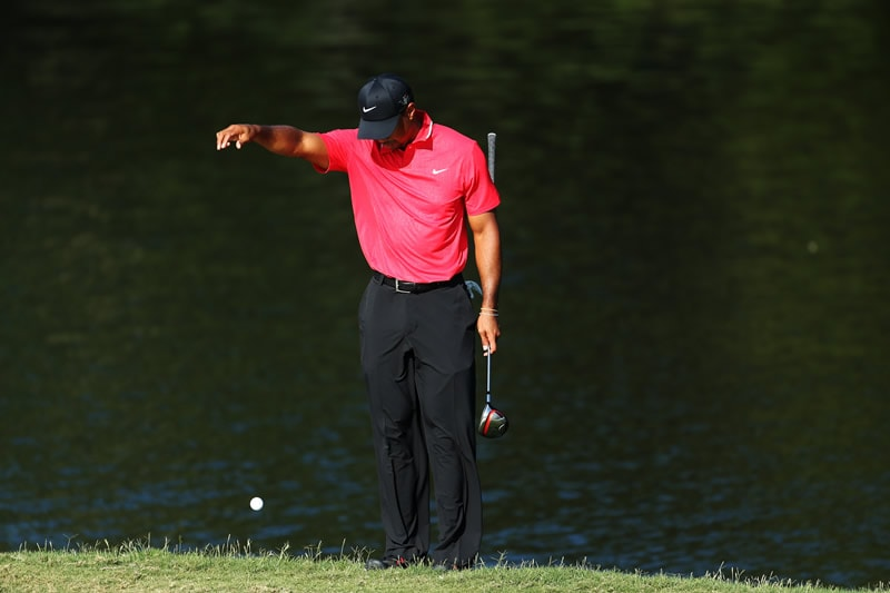 9. Tiger's drop at The Players