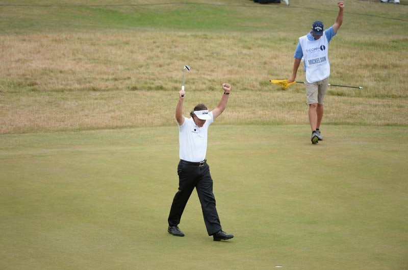 2. Mickelson's final-hole birdie at British Open