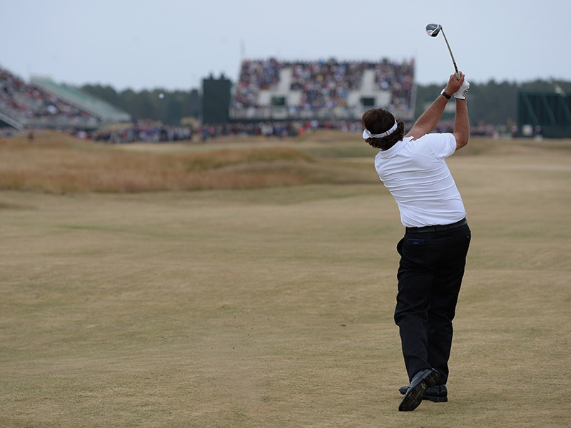 2. 3-wood at No. 17 at British Open