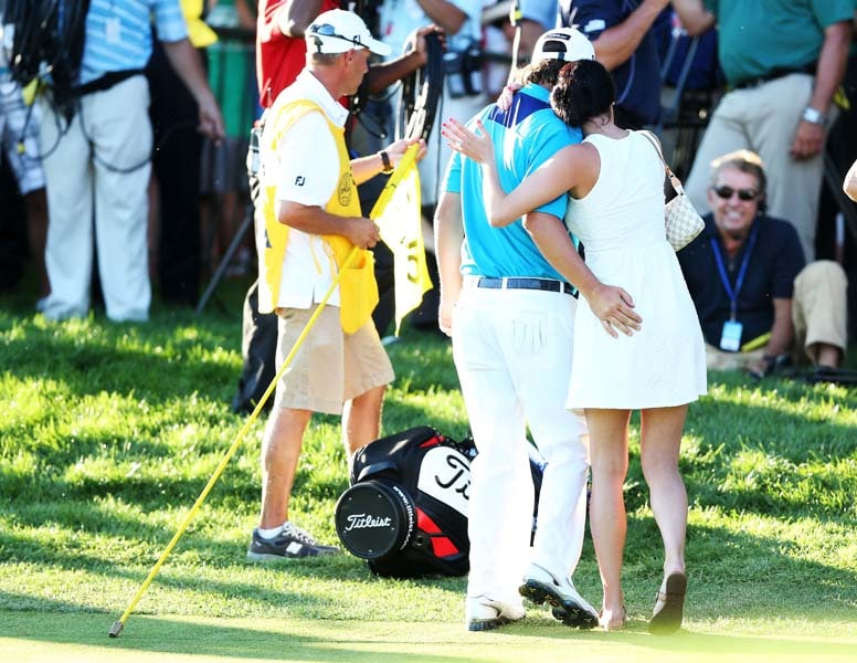6. Dufner's 'celebration' of PGA win with wife