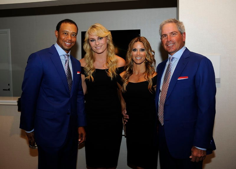 Tiger Woods, Lindsey Vonn, Nadine Moze and Fred Couples