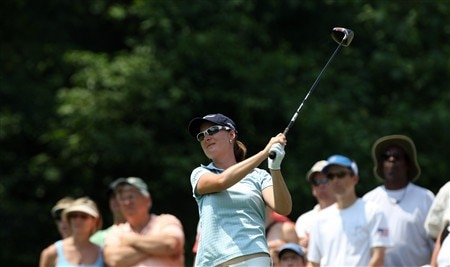 HAVRE DE GRACE, MD - JUNE 07:  Lindsey Wright of Australia hits her tee shot at the 2nd hole during the third round of the 2008 McDonald's LPGA Championship held at Bulle Rock Golf Course, on June 7, 2008 in Havre de Grace, Maryland.  (Photo by David Cannon/Getty Images)