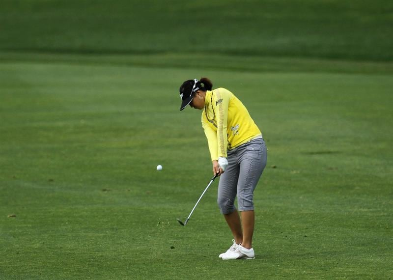 CARLSBAD, CA - MARCH 25:  Hee Kyung Seo of South Korea hits her third shot on the 11th hole during the first round of the Kia Classic Presented by J Golf at La Costa Resort and Spa on March 25, 2010 in Carlsbad, California.  (Photo by Stephen Dunn/Getty Images)