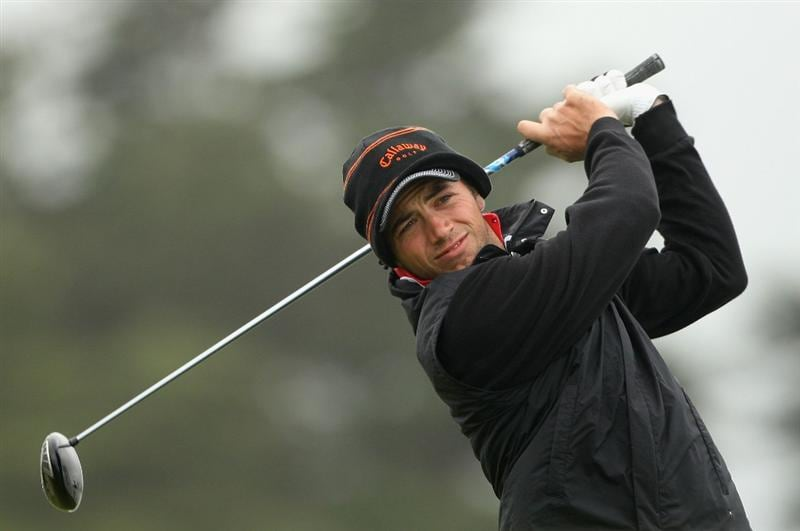 BALTRAY, IRELAND - MAY 16:  Nick Dougherty of England hits his tee-shot on the second hole during the third round of The 3 Irish Open at County Louth Golf Club on May 16, 2009 in Baltray, Ireland.  (Photo by Andrew Redington/Getty Images)