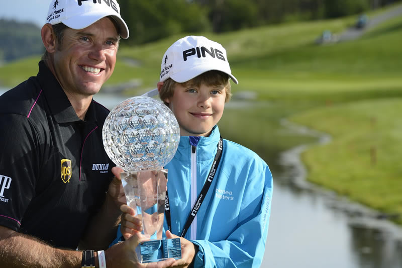 Lee Westwood and son Sam