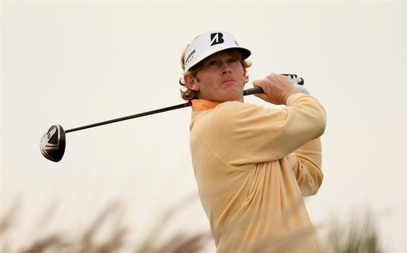 DOHA, QATAR - JANUARY 23:  Brandt Snedeker of the USA on the 16th tee during the second round of the Commercialbank Qatar Masters at the Doha Golf Club on January 23, 2009 in Doha, Qatar.  (Photo by Ross Kinnaird/Getty Images)