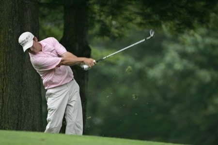 Jason Bohn hits his approach on #1 in the third round of the 2005 B.C. Open at En-Joi Golf Club in Endicott, New York. Saturday, July 16 2005.Photo by Chris Condon/PGA TOUR/WireImage.com