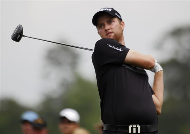 HUMBLE, TX - APRIL 02: Chris Kirk hits his drive on the fourth hole during the third round of the Shell Houston Open at Redstone Golf Club on April 2, 2011 in Humble, Texas.  (Photo by Michael Cohen/Getty Images)