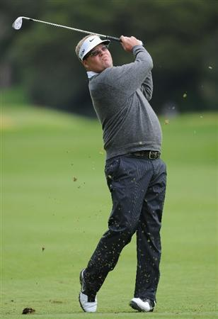PACIFIC PALISADES, CA - FEBRUARY 18:  Carl Pettersson of Sweden plays his approach shot on the 13th hole during the second round of the Northern Trust Open at Riviera Country Club on February 18, 2011 in Pacific Palisades, California.  (Photo by Stuart Franklin/Getty Images)