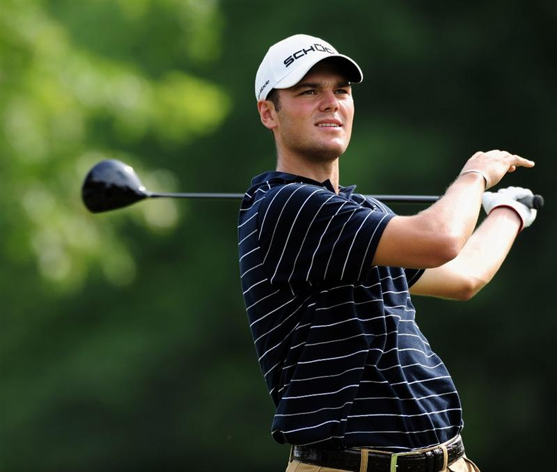 AKRON, OH - AUGUST 07:  Martin Kaymer of Germany plays his tee shot on the nineth hole during the second round of the World Golf Championship Bridgestone Invitational on August 7, 2009 at Firestone Country Club in Akron, Ohio.  (Photo by Stuart Franklin/Getty Images)