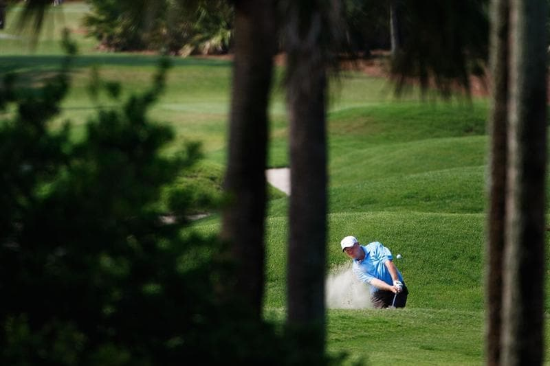 PONTE VEDRA BEACH, FL - MAY 07:  Carl Pettersson of Sweden plays a bunker shot during the first round of THE PLAYERS Championship on THE PLAYERS Stadium Course at TPC Sawgrass on May 7, 2009 in Ponte Vedra Beach, Florida.  (Photo by Jamie Squire/Getty Images)