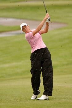 Beth Bauer plays from a muddy fairway on the 17th hole during the second round of the 2005 Franklin American Mortgage Championship at Vanderbilt Legends Club in Franklin, Tennessee on April 29, 2005.Photo by Al Messerschmidt/WireImage.com