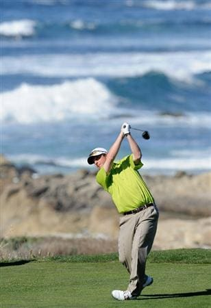 PEBBLE BEACH, CA - FEBRUARY 10:  Billy Andrade plays a shot during the first round of the AT&T Pebble Beach National Pro-Am at Monterey Peninsula Country Club on February 10, 2011  in Pebble Beach, California.  (Photo by Stuart Franklin/Getty Images)