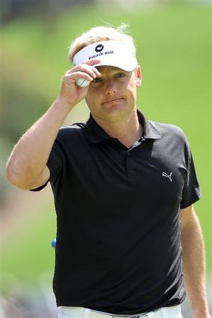 AUGUSTA, GA - APRIL 10:  Soren Kjeldsen of Denmark smiles as walks the sixth hole during the third round of the 2010 Masters Tournament at Augusta National Golf Club on April 10, 2010 in Augusta, Georgia.  (Photo by Jamie Squire/Getty Images)