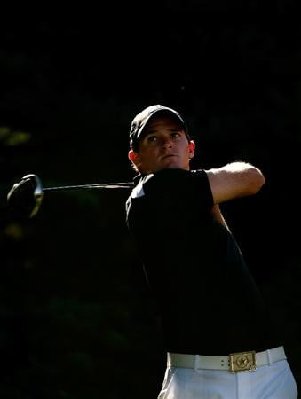 BOISE, ID - SEPTEMBER 17:  Sam Saunders tees off on the 16th hole during the first round of the Albertson's Boise Open at Hillcrest Country Club on September 17, 2009 in Boise, Idaho.  (Photo by Jonathan Ferrey/Getty Images)
