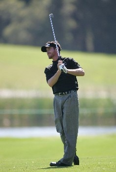 Mark Hensby on the ninth fairwa during the first round of THE PLAYERS championship at the Tournament Players Club at Sawgrass in Ponte Vedra Beach, Florida on March 24, 2005.