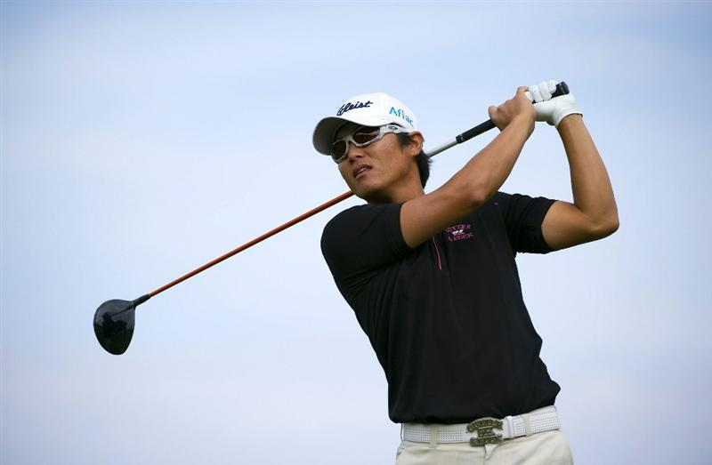 SAN MARTIN, CA - OCTOBER 16:  Ryuji Imada of Japan makes a tee shot on the fourth hole during the third round of the Frys.com Open at the CordeValle Golf Club on October 16, 2010 in San Martin, California.  (Photo by Robert Laberge/Getty Images)