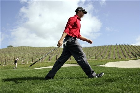 LIVERMORE, CA - APRIL 06: J.J. Killeen walks to the next tee from the 13th green during the final round of the 2008 Livermore Valley Wine Country Championship on April 06, 2008 at the Wente Vineyard in Livermore, California. (Photo By Kent Horner/ Getty Images)