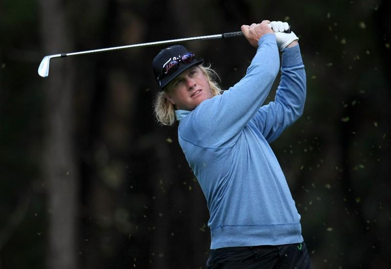 PEBBLE BEACH, CA - FEBRUARY 13:  Charley Hoffman hits his tee shot on the 11th hole during the second round of the AT&T Pebble Beach National Pro-Am at Poppy Hills Golf Course on February 13, 2009 in Pebble Beach, California.  (Photo by Stephen Dunn/Getty Images)